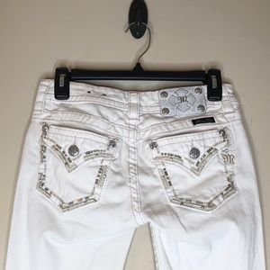 Miss me white jean - signature crop size 26
